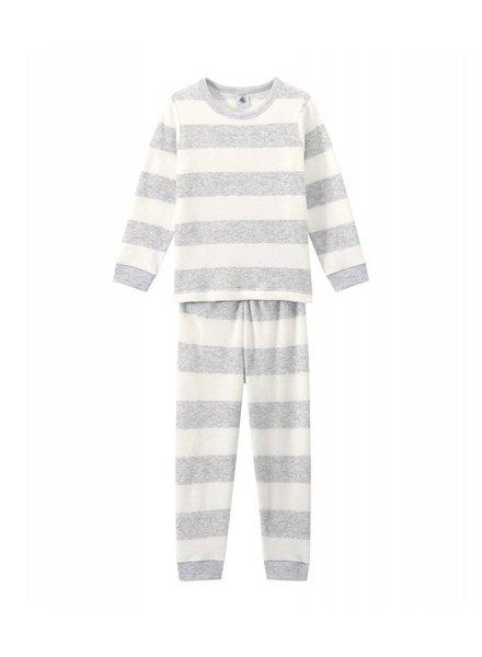 Petit Bateau Pyjama - grijze streep