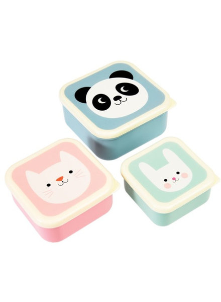 Rexinter Koekjesdoos Panda, Cat and Rabbit - Set Van 3 Stuks