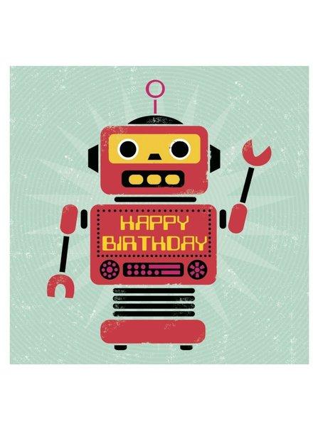 Rexinter Robot Birthday Card
