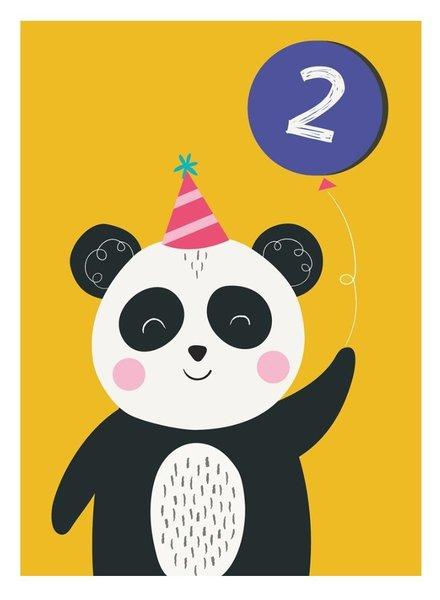 Rexinter Panda 2nd Birthday Card