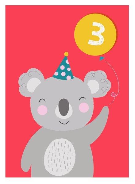 Rexinter Koala 3rd Birthday Card