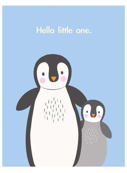 Rexinter Hello Little One Penguin Card
