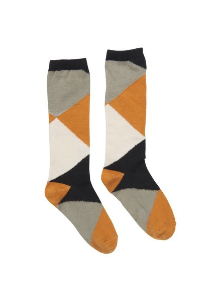 CarlijnQ Knee socks - color blocks - maat 1/2Y