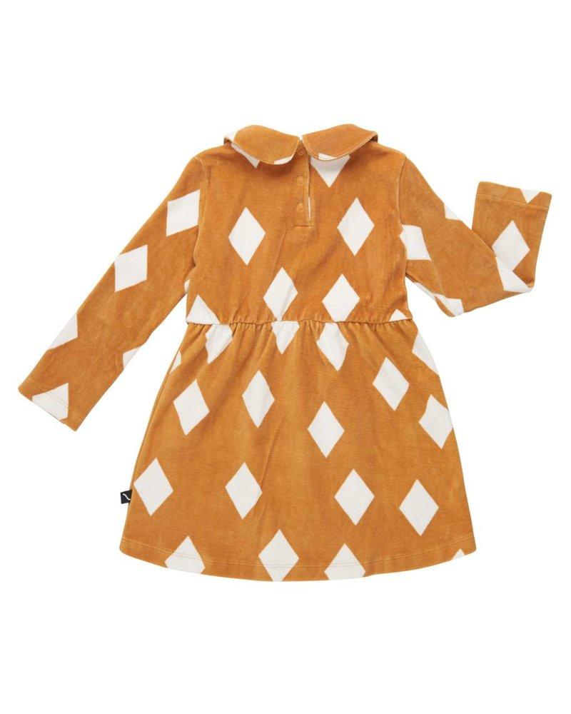 CarlijnQ Collar dress - Diamonds ochre