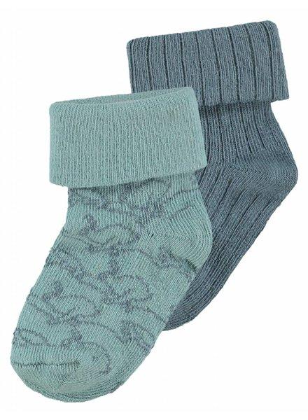 Noppies Sock 2pck Thornton - Grey Mint
