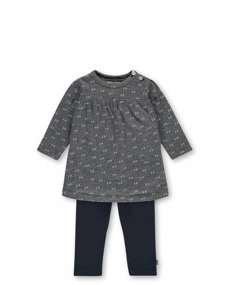Imps & Elfs Dress Long Sleeve - Dreamy Blue Jacquard