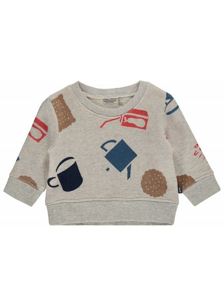 Imps & Elfs Pullover Long Sleeve - Snow melange tea pot