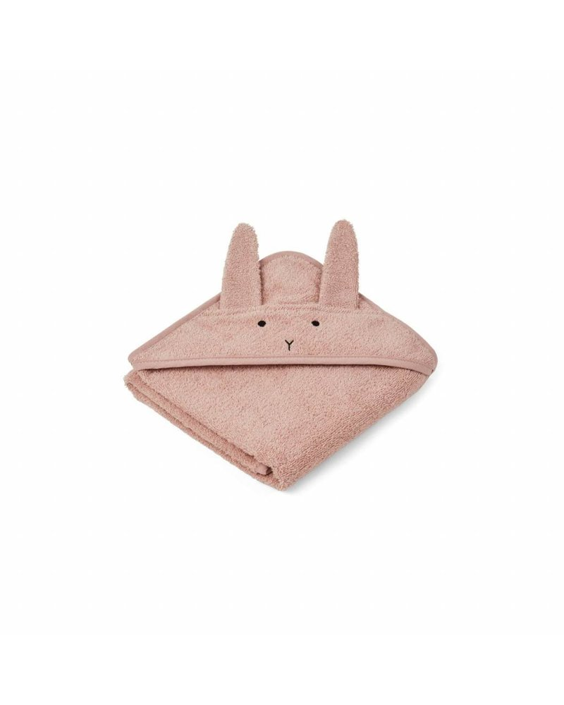 Liewood Albert hooded towel - Rabbit Rose