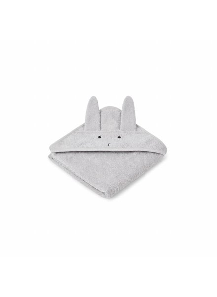 Liewood Albert hooded towel - Rabbit dumbo grey