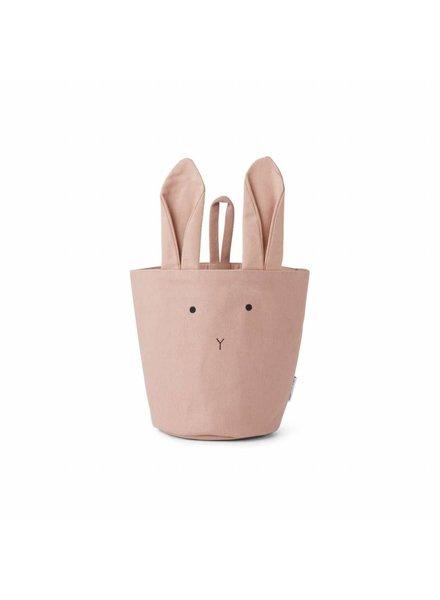 Liewood Ib fabric basket - Rabbit rose