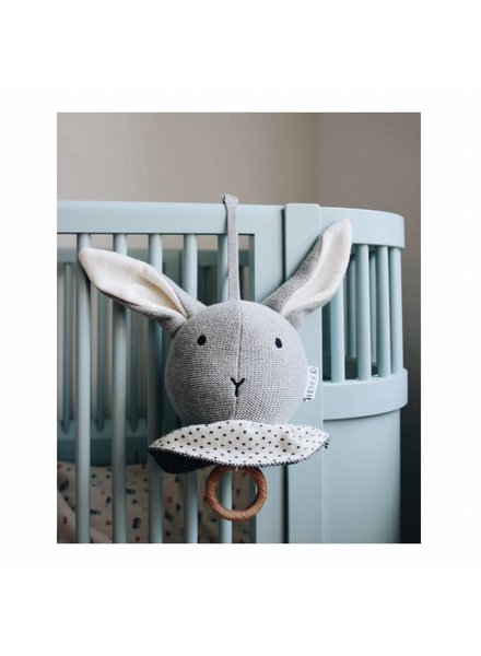 Liewood Angela music mobile - Rabbit grey melange