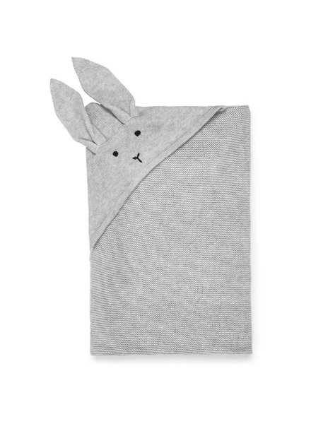 Liewood Willie knit blanket Rabbit dumbo grey