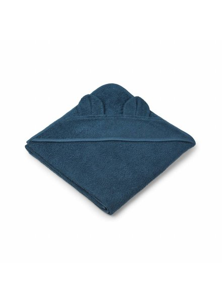 Liewood Augusta towel - Mr bear petrol
