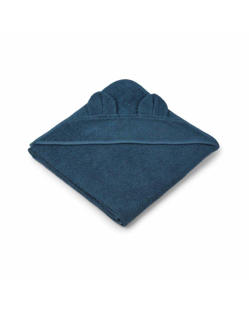 Liewood Augusta towel - Mr bear petrol