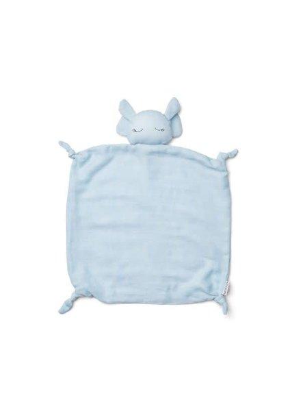 Liewood Agnete cuddle cloth-Elephant baby blue