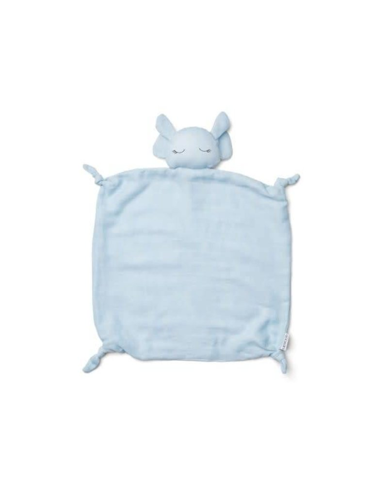 Liewood Agnete cuddle cloth-Elephant baby blue
