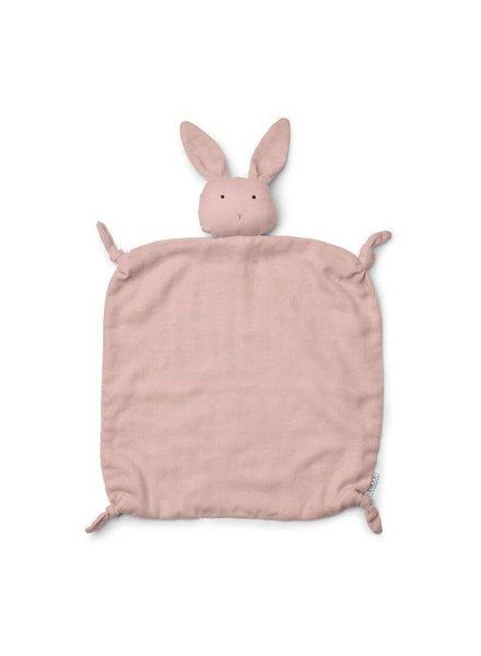 Liewood Agnete cuddle cloth-Rabbit rose