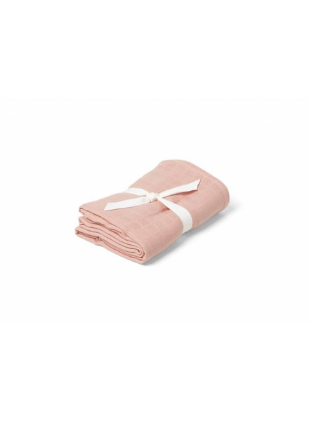 Liewood Molly swaddle solid-Coral pink (120 x 120)