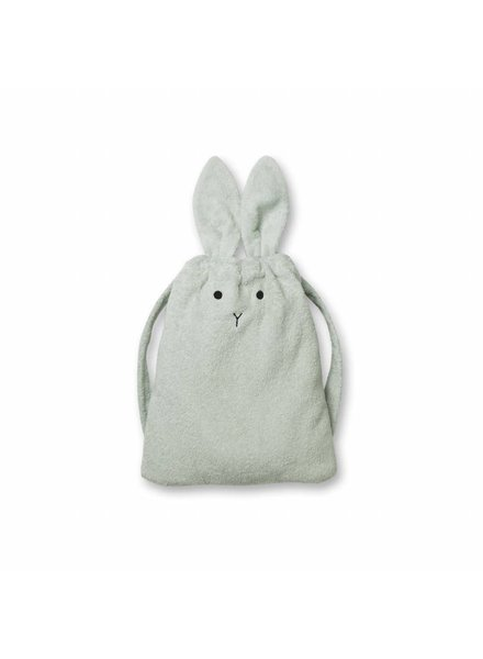 Liewood Thor towel back pack - Rabbit dusty mint
