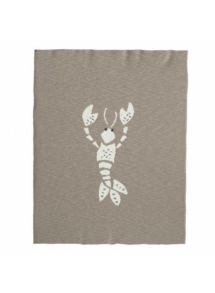Fresk Gebreide deken 80 x 100 cm - Lobster grey