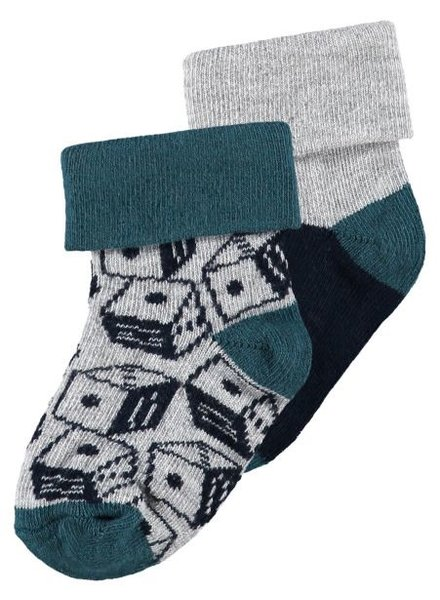 Noppies socks 2pck Vidor - Navy - maat 3M/6M