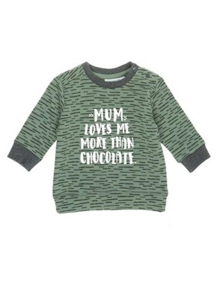 Feetje Sweater Mum Team Trouble - Army