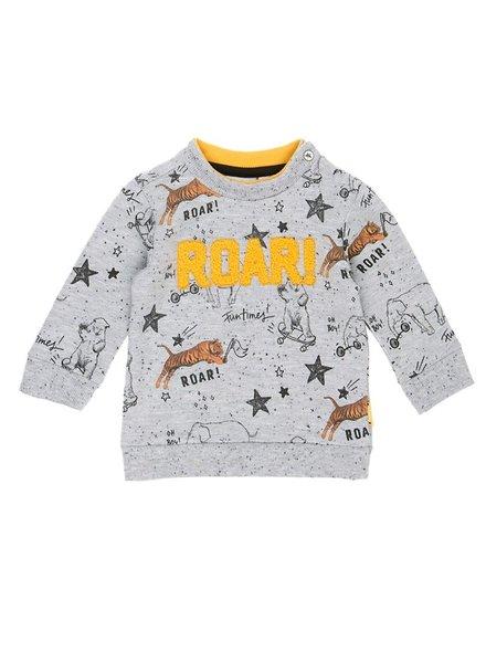 Feetje Sweater AOP Cool Dude - Grijs melange
