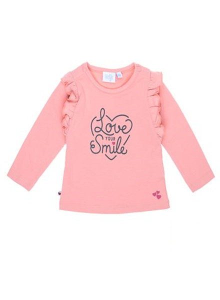 Feetje Longsleeve Love Your Smile With Love - Roze
