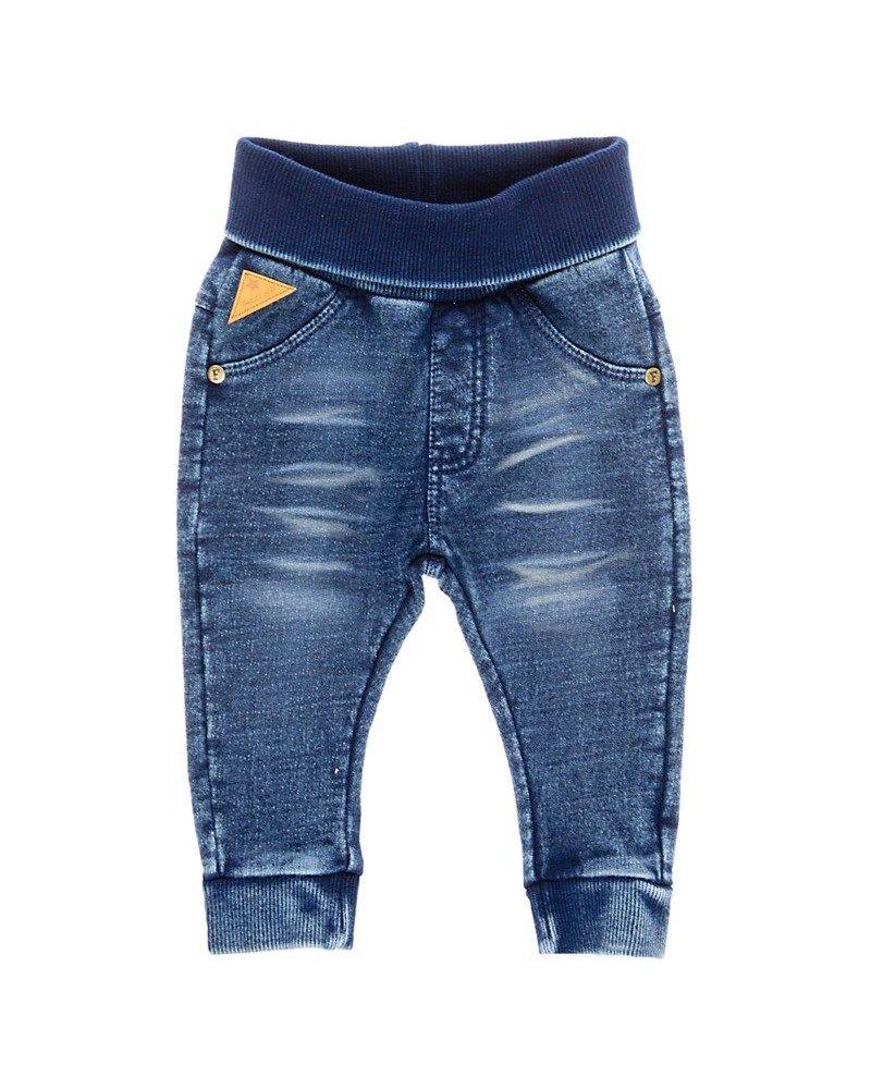 Feetje Blue knitted denim slim fit - Blue denim - maat 74