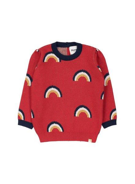 Blune Over the rainbow sweater - maat 98