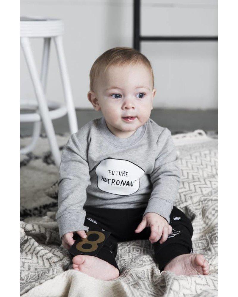Little Indians Sweater Future Astronaut Grey Melange