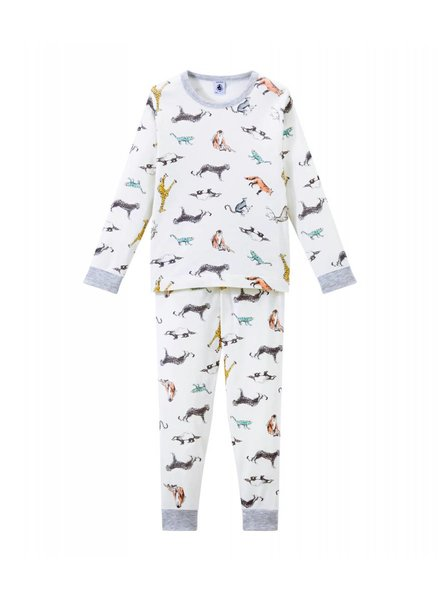 Petit Bateau Pyjama met dierenprint