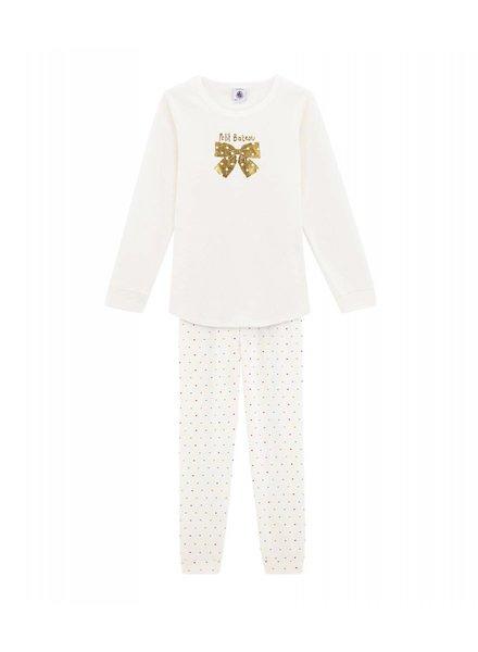 Petit Bateau Pyjama - Gouden strik
