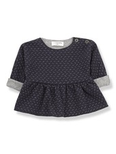 1 + In the Family Muriel blouse blue/grey - maat 3M