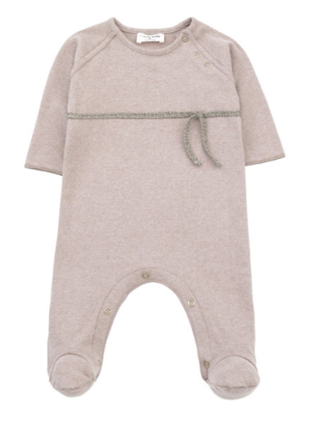1 + In the Family Nina footed romper rose