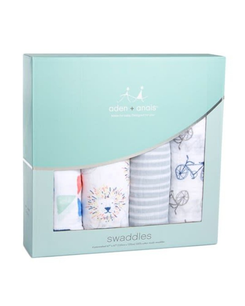 aden and anais 4-PACK SWADDLING WRAPS - leader of the pack