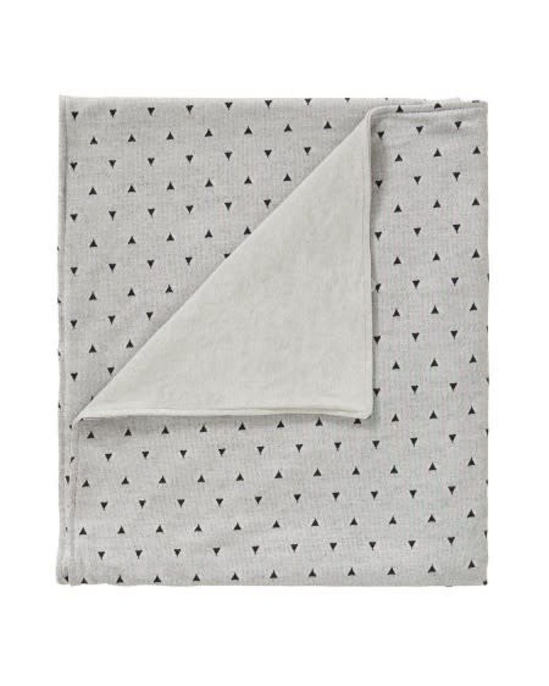 Cottonbaby Wiegdeken driehoek zwart/grijs