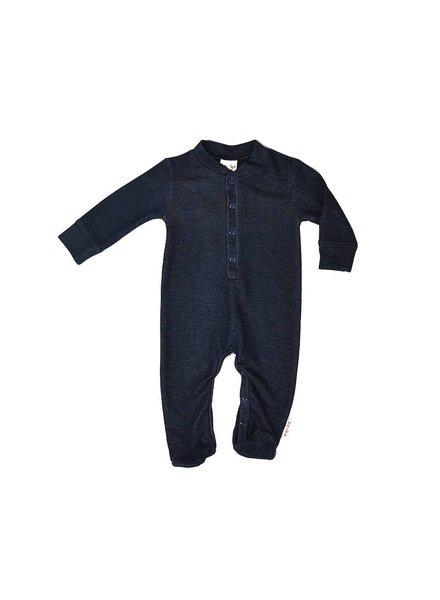 Baba Babywear Footed bodysuit - Denim Blue
