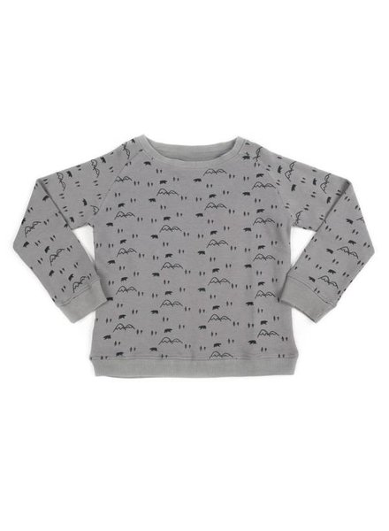 Liv + Lou Pavlov sweater AOP mountain bear