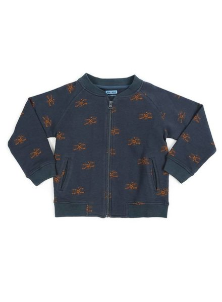 Liv + Lou Paco bomber jacket sweat AOP golden eagle