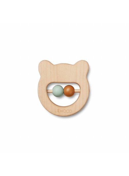 Liewood Ivalu wood teethers - Mr bear natural