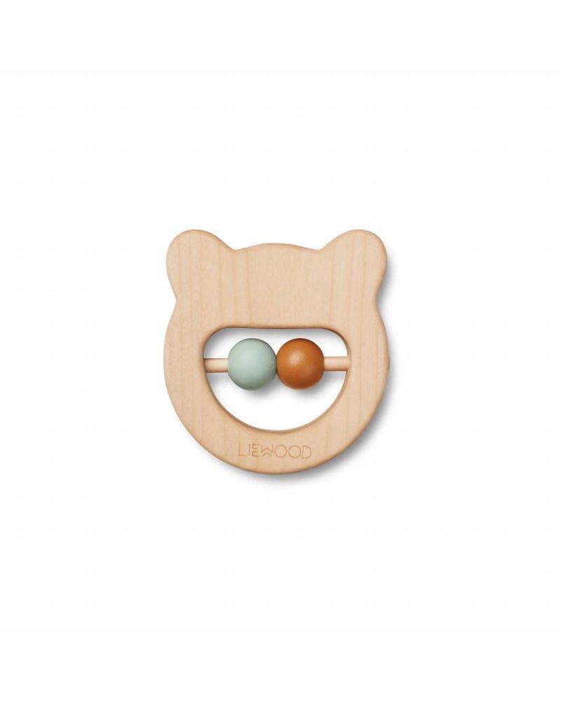 Liewood Ivalu wood teethers - Mr bear natural