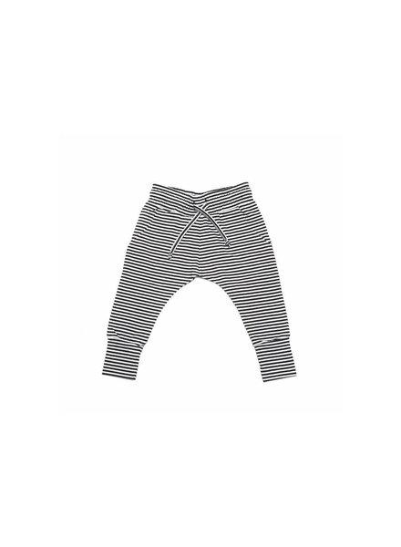 Mingo Slim fit jogger - Black/white stripes - maat 0/6M