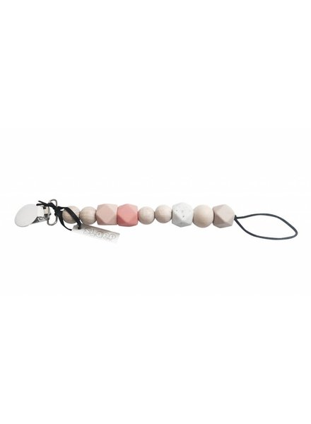 Slaep Fopspeenketting - Pinkster - Soft tones in pink and salmon