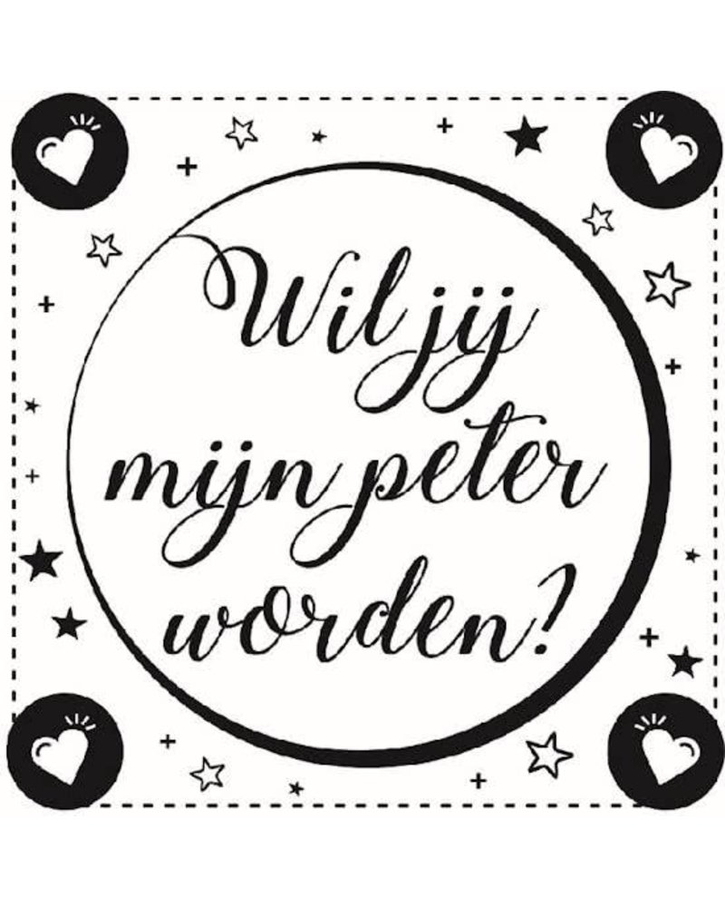 Minimou Sticker - Wil jij mijn peter worden?