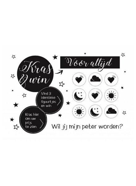Minimou Kraskaart - Wil jij mijn peter worden?