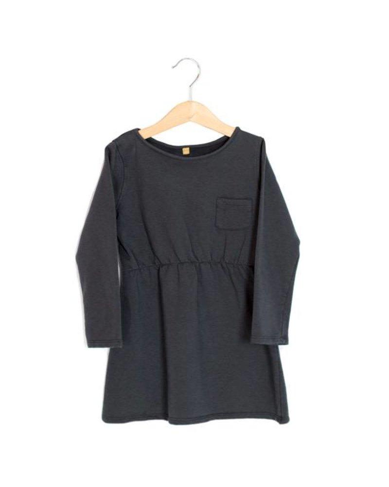 Lötiekids Dress - Solid - Vintage black - maat 80/86 & 116/122