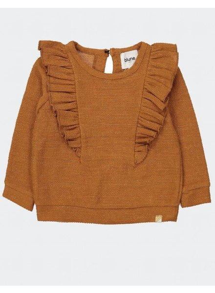 Blune Cheers - Lurex sweatshirt with flounces