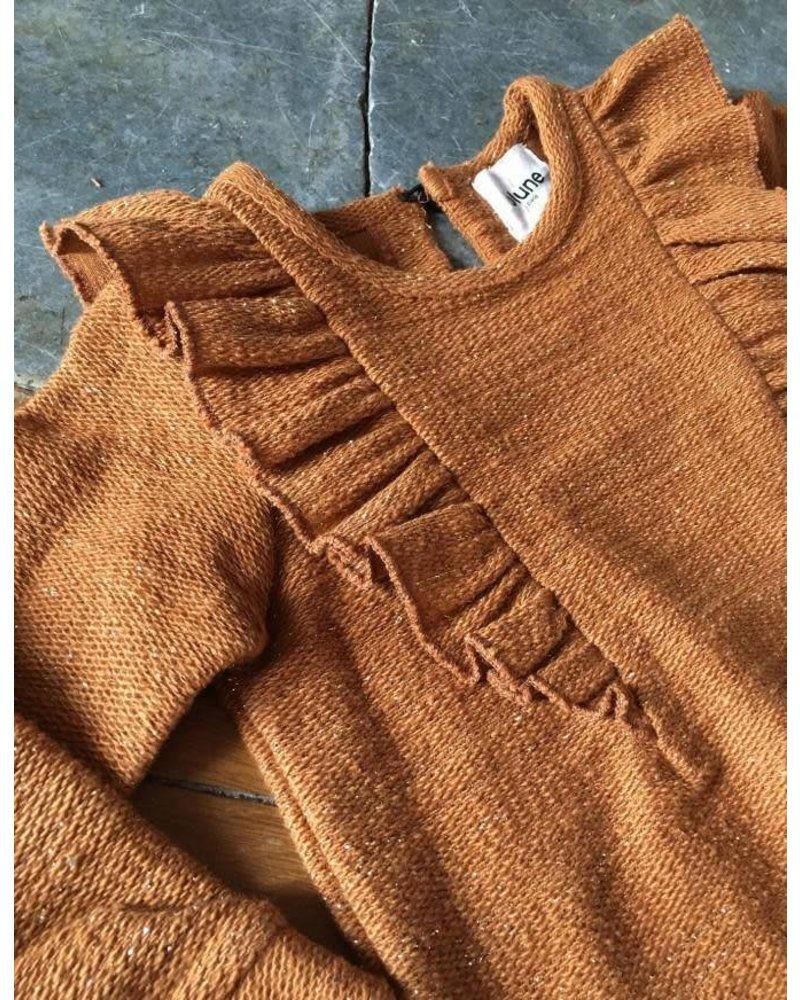Blune Cheers - Lurex sweatshirt with flounces