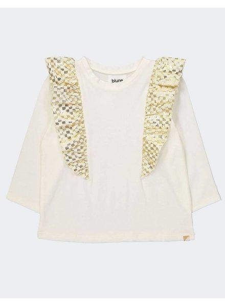 Blune Yellow brick road - T-shirt with flounces - maat 92, 98 & 104